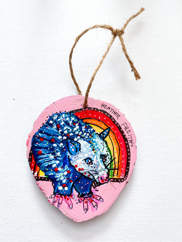 Drop Dead Cute Opossum Ornament Heather Freitas