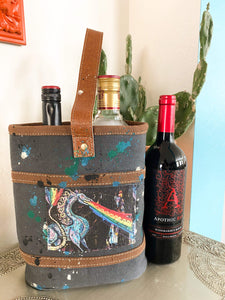 Flightless Ground - Double Bottle Bag Heather Freitas