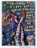 Flying Monkeys- Hand Signed Limited Edition Paper Print Heather Freitas
