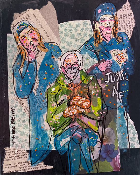 Jay, Silent Bob and Bernie ( Original Painting ) Heather Freitas