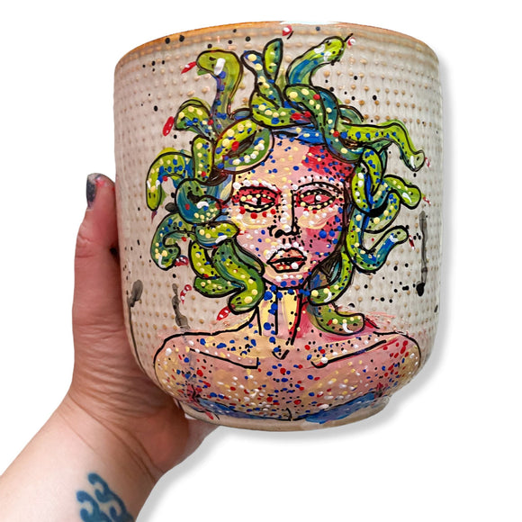 Medusa 6.5 inch Planter Pot Heather Freitas