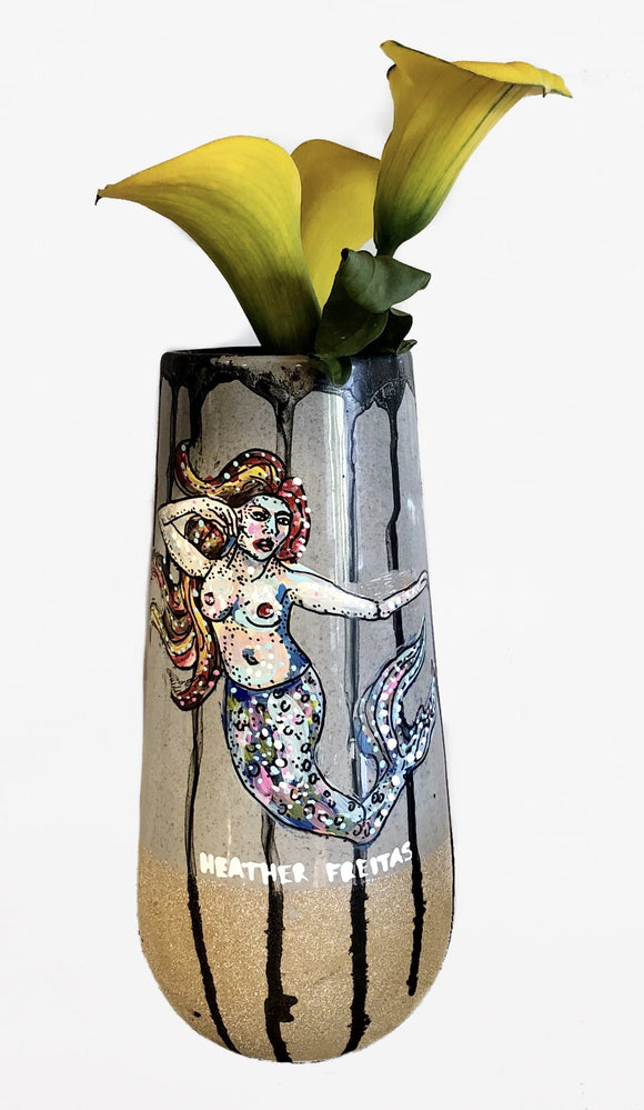 Mermaid vase Heather Freitas