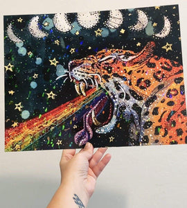Moon Tides & Rainbow Vibes - LE Holographic Print Heather Freitas