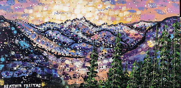 Moonlit mountains Heather Freitas