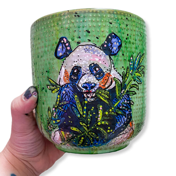 Panda Snacking 6.5 inch Planter Pot Heather Freitas