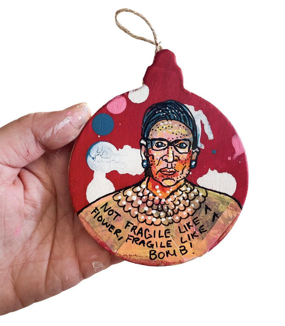 RBG BOMB Ornament Heather Freitas