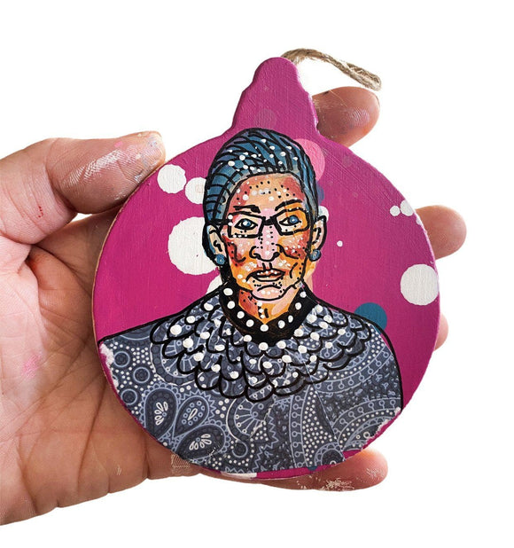 RBG - Magenta Ornament Heather Freitas