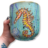 Seahorse 6.5 inch Planter Pot Heather Freitas