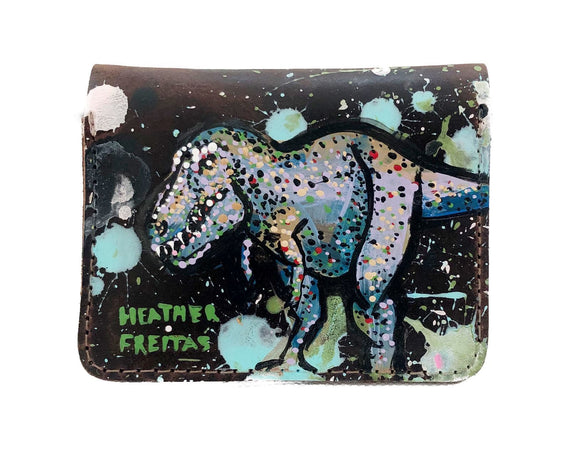 T-Rex men's leather bifold wallet Heather Freitas