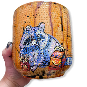 Trash Panda 6.5 inch Planter Pot Heather Freitas