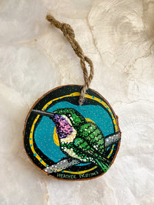 XL Hummingbird Ornament 2 Heather Freitas