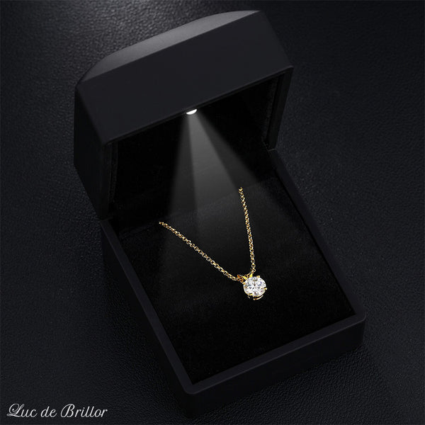 COLLIER MAILLE CUBAINE 20MM ICE PLAQUÉ OR