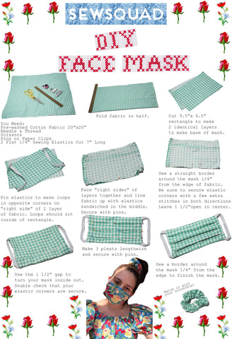 SEWSQUAD No Machine DIY Face Mask