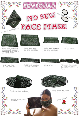 SEWSQUAD No Sew Face Mask