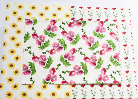 Floral Print Fabric Fake Outs