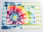 No-Mess Tie-Dye Fabric Fake Outs