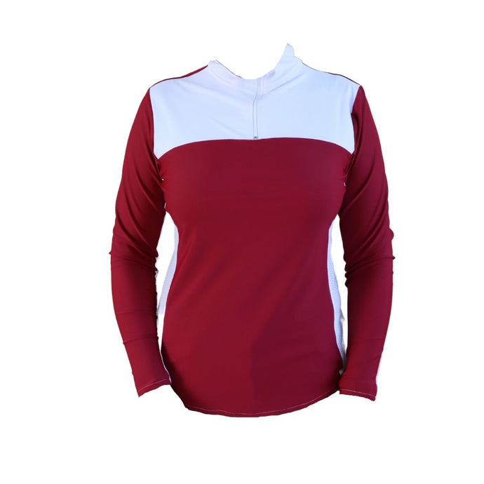 Maroon riding shirt