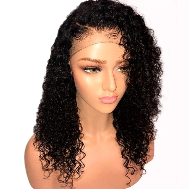 360 Lace Frontal Wig Curly Lace Front Human Hair Wigs PrePlucked With Baby Hair