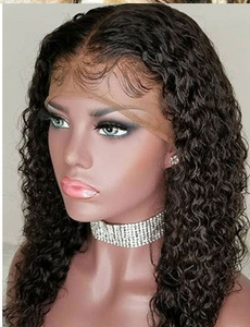 Curly 360 Lace Frontal Human Hair Wigs Brazilian Remy Hair Pre Plucked