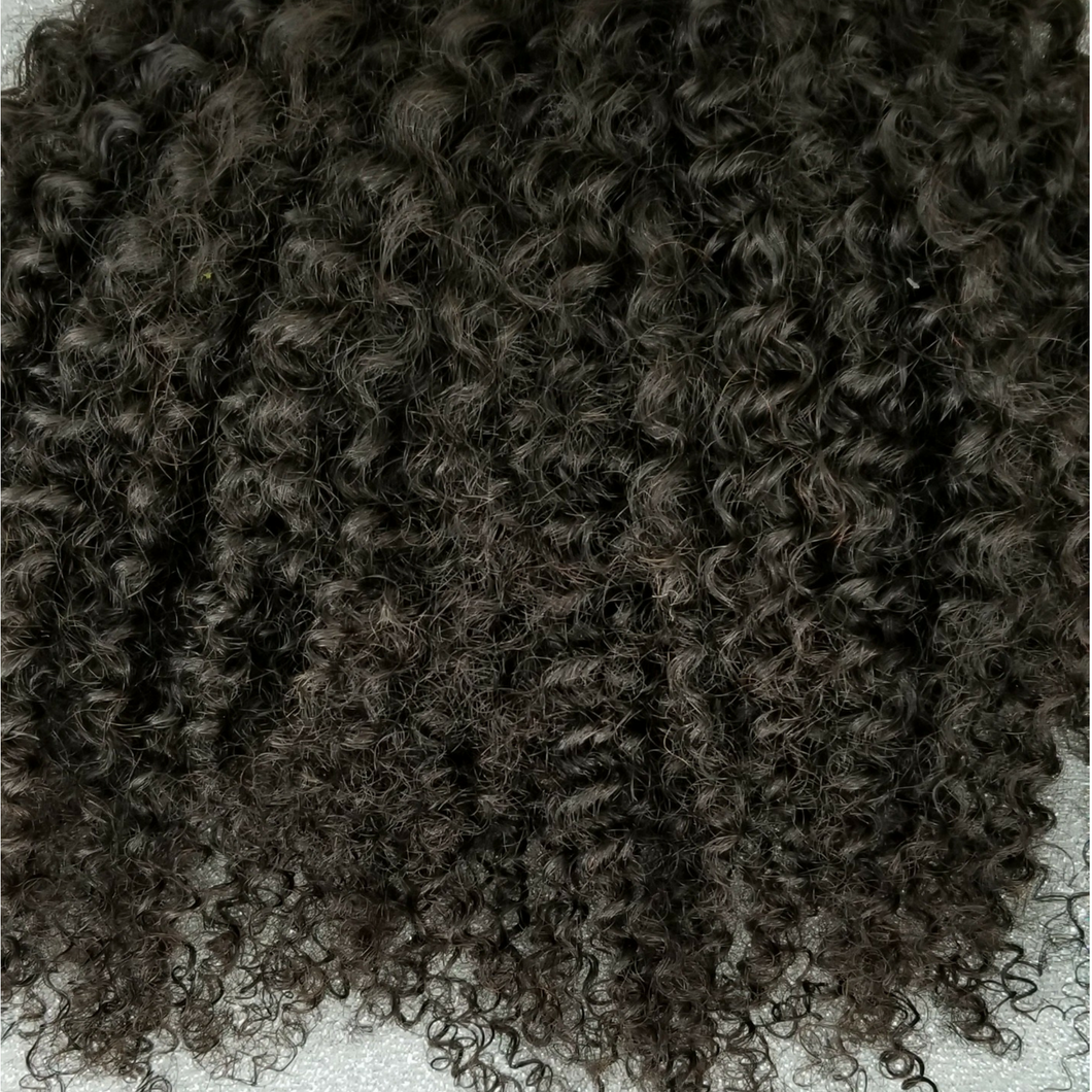 Virgin Indian Hair - Natural Afro Coily Lace Closure