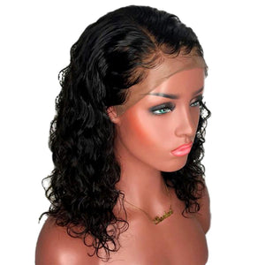 Curly Lace Front Human Hair Wigs iLuvWig Peruvian Remy Hair 360 Frontal Preplucked Bleached Knots