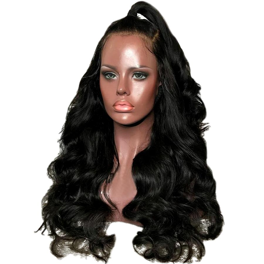 Body Wave  Brazilian Remy Hair Wigs% 360 Lace Frontal Wig Pre Plucked With Baby Hair