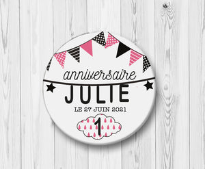 badge-anniversaire-guirlande-un-an-rose