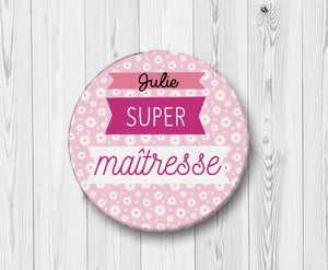 badge-super-matresse-fleurs-roses