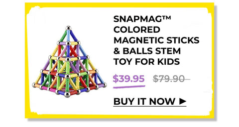 SNAPMAG™ - COLORED MAGNETIC STICKS & BALLS STEM TOY FOR KIDS