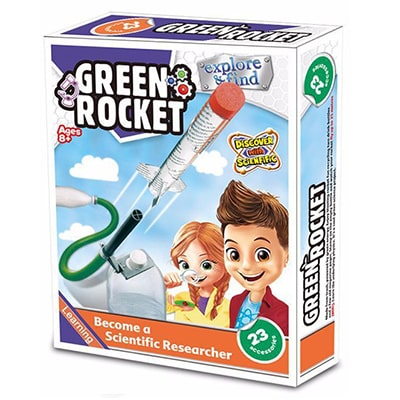 Blast Launch!™ Green Rocket Launcher - STEM Educational Learning Kit