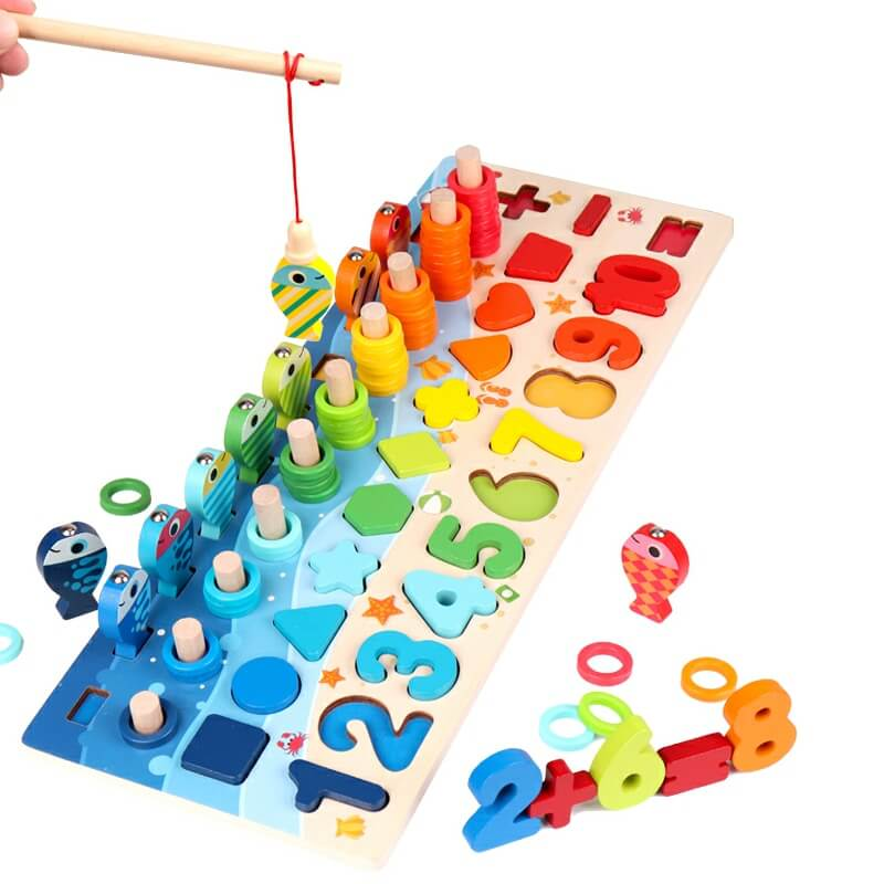Mathio™ - Montessori Educational Wooden Math Board Set