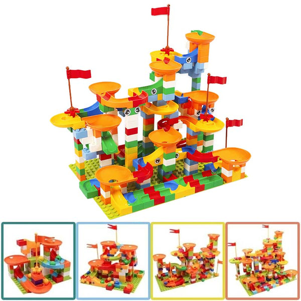 Marble Empire™ - Insane Marble Run Brain Builder Set - US