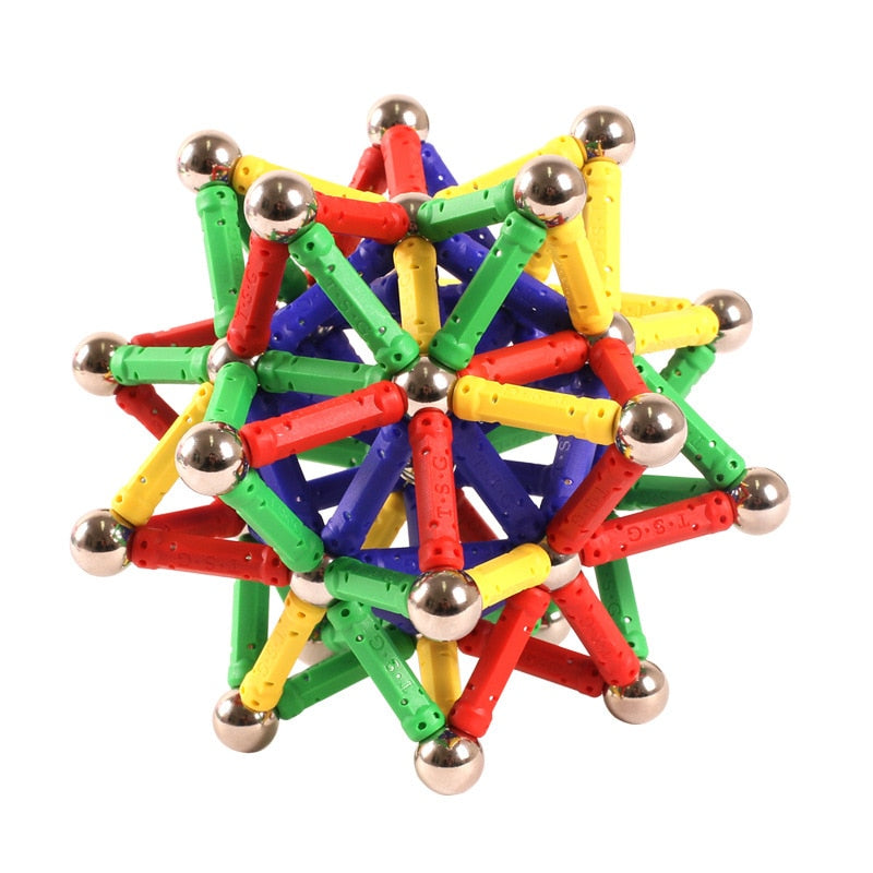 SnapMag™ - Colored Magnetic Sticks & Balls STEM Toy for Kids - US