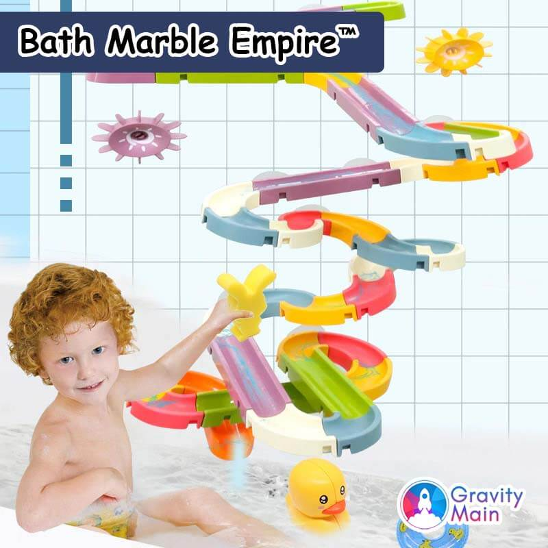 Bathroom Edition: Marble Empire™ - STEM Insane Marble Run Brain Builder Set