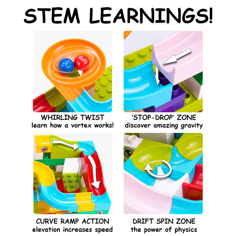 Marble Empire™ - STEM Insane Marble Run Brain Builder Set - BOGO