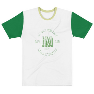 Allno Legally Hustln Men's Tee- Green Lines