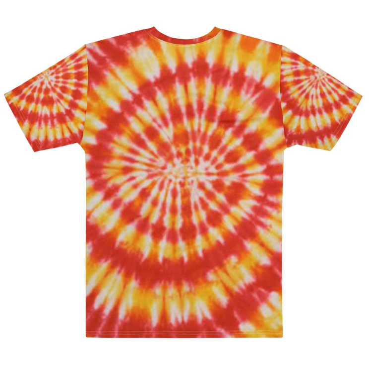 Allno Orange Passion Tie Dye Men's Tee