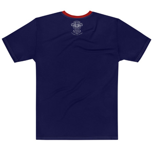Allno Legally Hustln Men's Tee- Navy & Dark Red