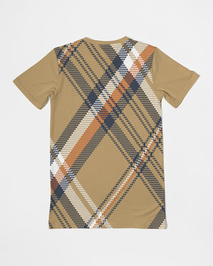 Allno Orange Pumpkin Plaid Men's Pocket Tee
