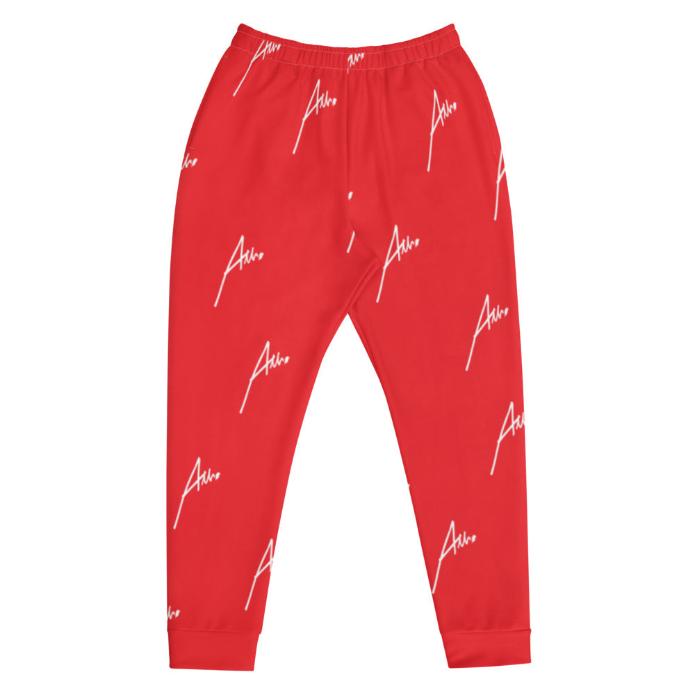 Allno All-Over Signature Stitch Men's Joggers - Red