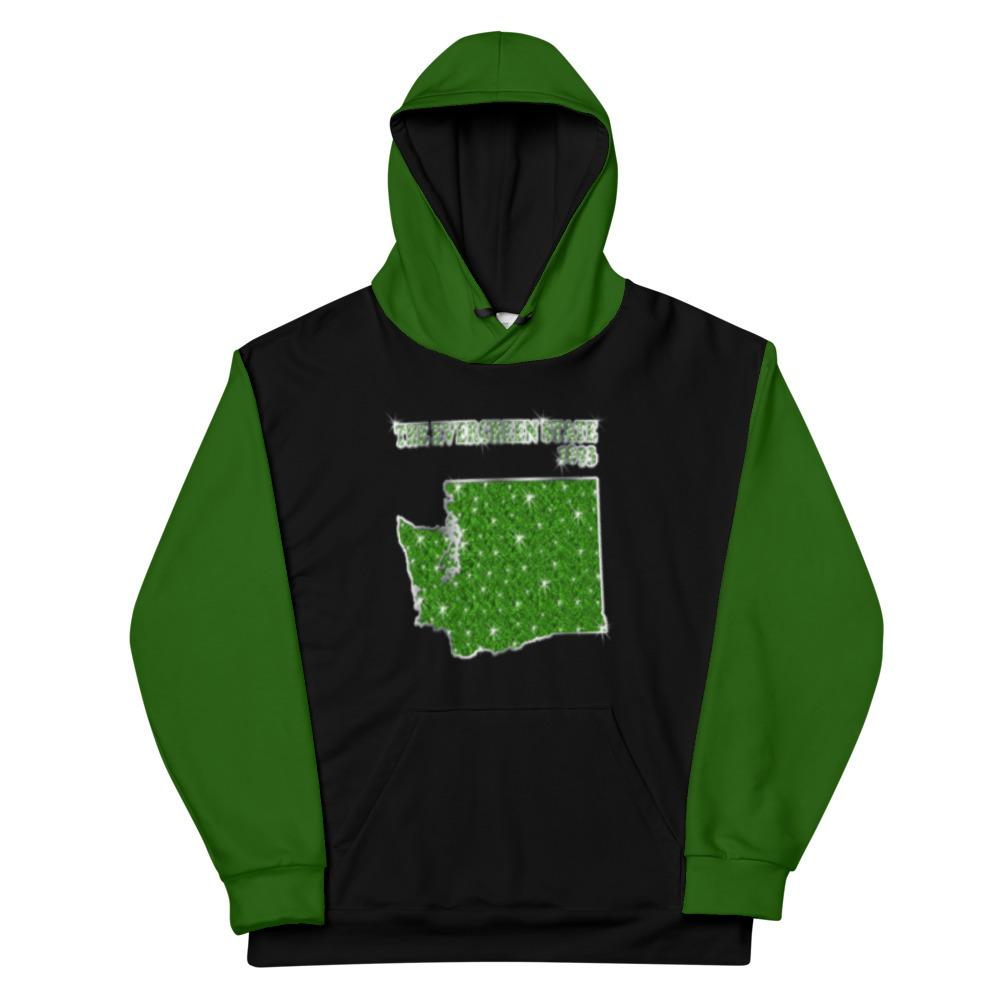 Allno States & Continents Hoodie - The Evergreen State 1893