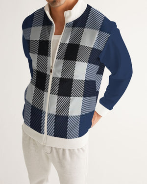Allno Blue Berry Plaid Men's Track Jacket