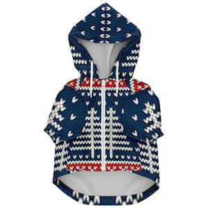 Allno Ugly Red White and Blue Dog Zip-Up Hoodie