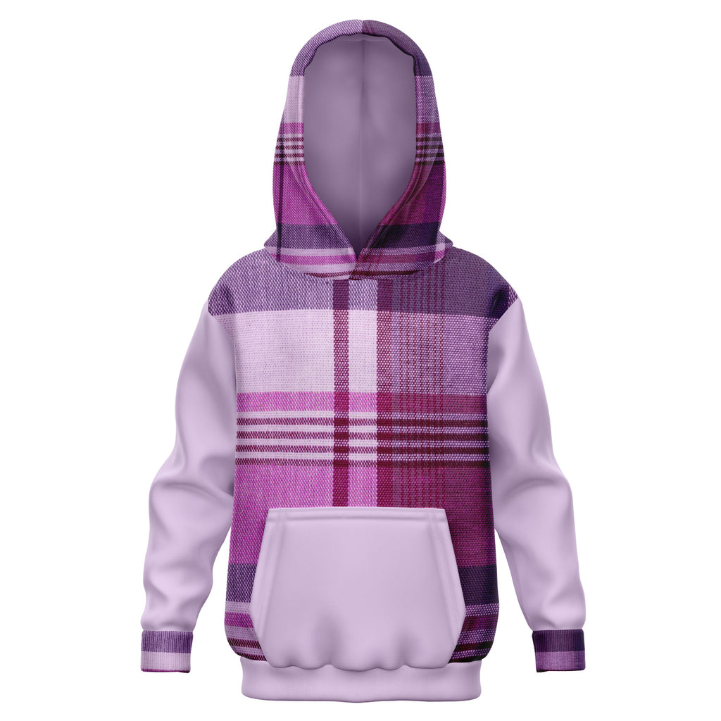 Allno Purple Passion Plaid Kids Hoodie