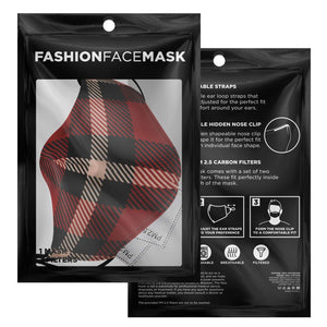 Allno Red Plaid Face Mask