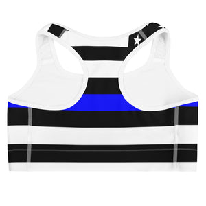 Allno Stars and Stripes Blue Sports Bra