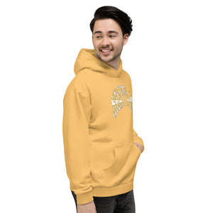 Allno Seattle Patterned Hoodie - Gold
