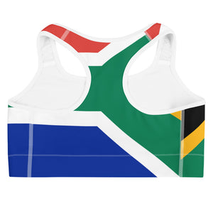 Allno World Countries South Africa Sports Bra