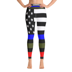 Allno Stars and Stripes Respect Military Courage Leggings