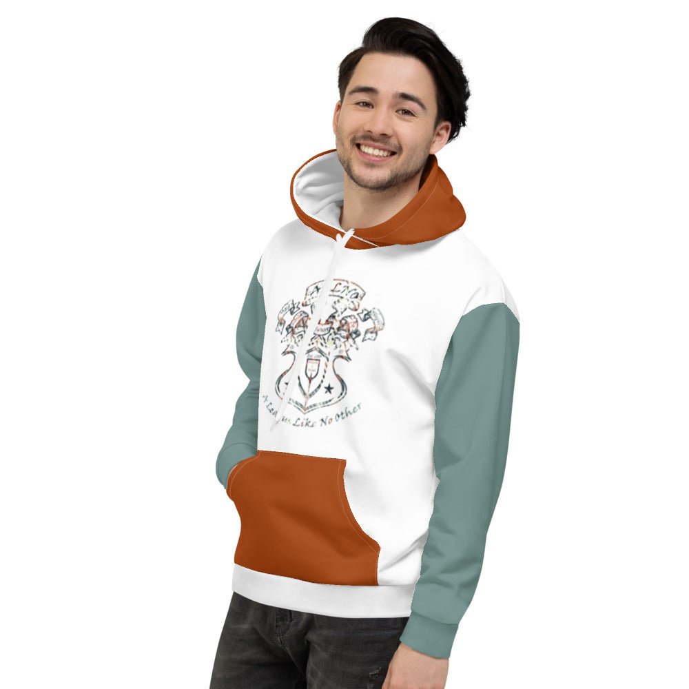 Allno A League Like No Other Argyle Hoodie - Aqua & Burnt Orange